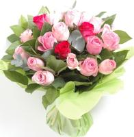 2041 - Basket of Pink Roses