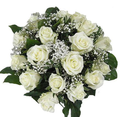 2065 - White Roses Arrangement
